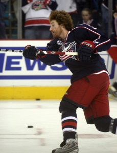 Mike Commodore as a part of the Blue Jacket's first playoff team in 2009