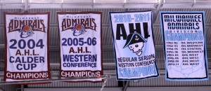 The logos and leagues have changed, but pride in the Milwaukee Admirals remains. (Photo: J. Propst)