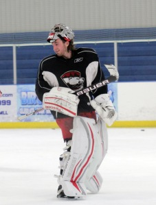 Mike Murphy skated with the Checkers last week before the team left on their two-game roadtrip. (Photo - J. Propst)
