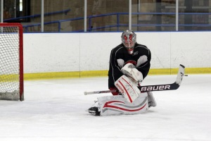 Mike Murphy practices with the Checkers in Indian Trail. (Photo - J. Propst)