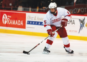 Justin Krueger spent four years as a member of the Cornell Big Red hockey team.