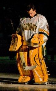 Rob Madore played college hockey at the University of Vermont.
