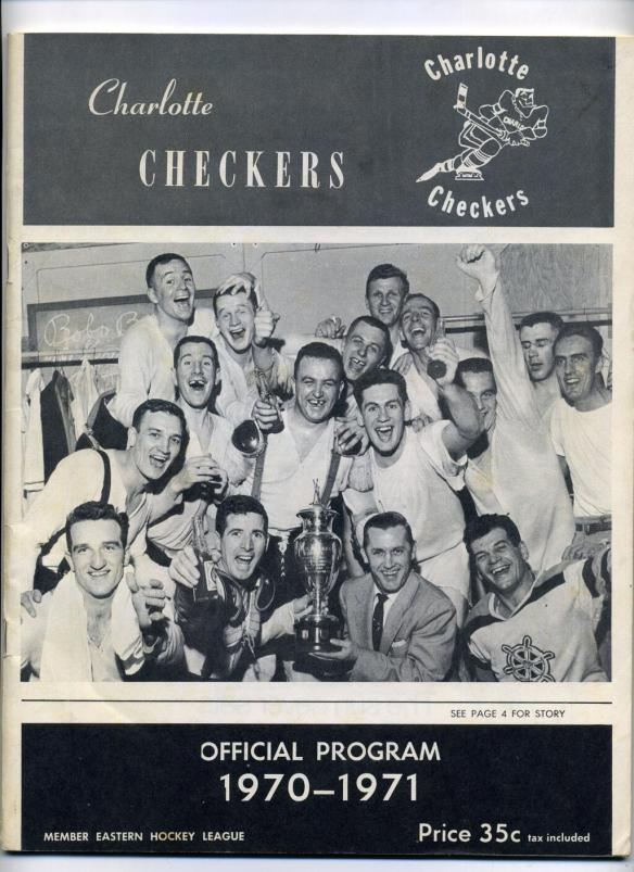 The Charlotte Clippers won the championship in 1957.  Over a decade later, and just a month before the team's second championship, the photo was published in the team's official program. Is it time to re-print this photo in a 2013-14 program? (Photo credit - Charlotte Checkers, used with permission)