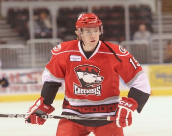 Zac Dalpe was traded by the Carolina Hurricanes along with Jeremy Welsh to the Vancouver Canucks for Kellan Tolchkin and a fourth-round draft pic. (Photo - Jenni Propst)