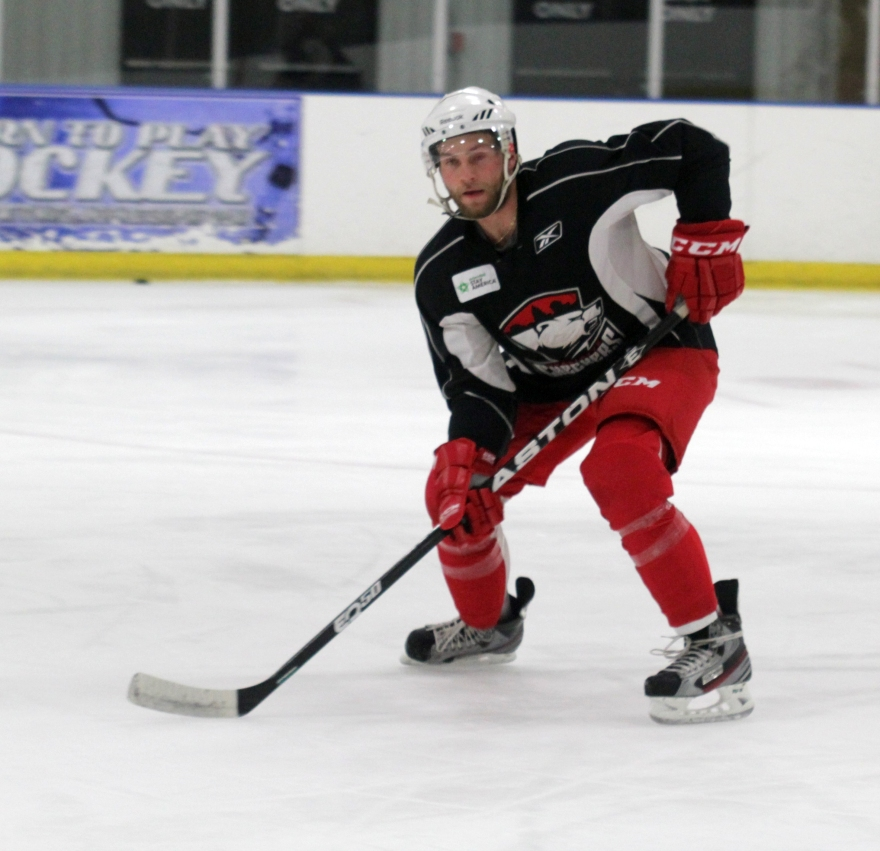 Beau Schmitz participates in Charlotte Checkers training camp. (Photo - J. Propst)