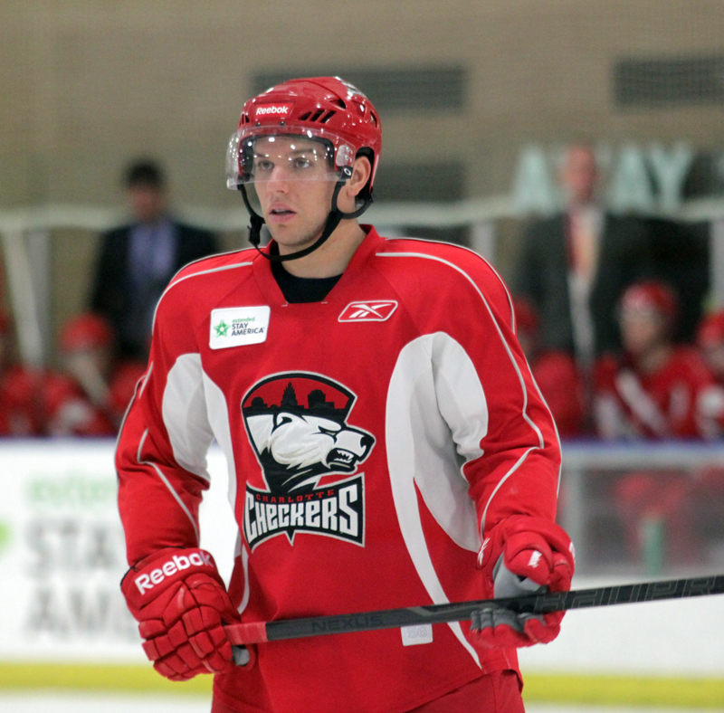 Zach Boychuk scored one in the Checkers 4-2 win over Norfolk on Friday in Indian Trail. (Photo - J. Propst)