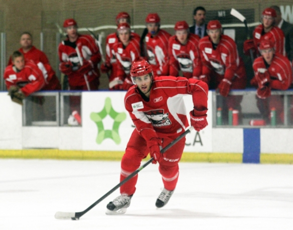 Aaron Palushaj skates for the Charlotte Checkers. (Photo - J. Propst)