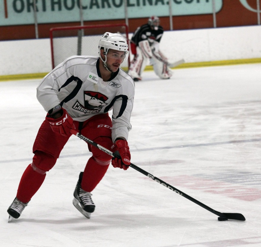 Stefan Della Rovere joins the Checkers after a stint with the Blues organization. (Photo - J. Propst)