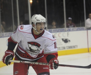 Victor Rask played 10 games for the Checkers last season. (Photo: J. Propst)