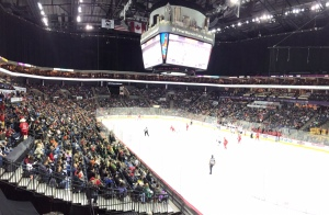 The Charlotte Checkers had another sellout this afternoon. It's great to see the arena filled to capacity on a regular basis! (Photo - Jenni Propst)