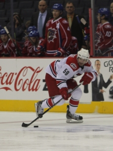 Chad LaRose scored the Checkers lone goal late in the first period of play.  (Photo - Jenni Propst)