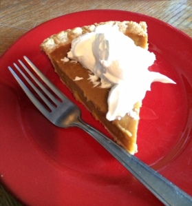 Pumpkin pie is delicious. I'm thankful for this and a second Thanksgiving weekend Checkers win.